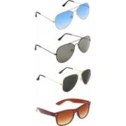 Zyaden Aviator, Aviator, Aviator, Wayfarer Sunglasses(Blue, Green, Black, Brown)