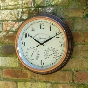 Ceas de perete cu termometru
