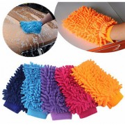 1 Microfiber Cleaning Gloves Hand Duster