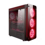 Кутия Xigmatek Glare 7A, ATX/micro ATX/mini-ITX, 2x USB 3.0, 4x 120mm RGB вентилатора, прозорец, черна, без захранване