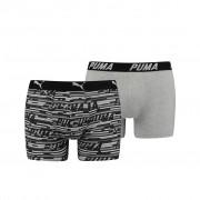 Puma Logo AOP Boxershorts Black 2-pack-S
