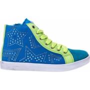 Pantofi sport copii Star 2 albastru cu verde