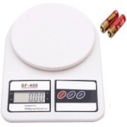 OFIXO SF400 7 Kg With inbuilt Batteries OFX-SF400 Electronic Kitchen Weighing Scale(White)