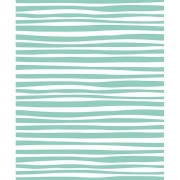 Shoppartners 3x Inpakpapier/cadeaupapier wit met blauwe strepen design
