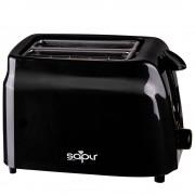 Тостер за хляб SAPIR SP 1440 D, 750W, Регулиране на запичането, Тавичка за трохи, Черен