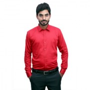 Tooley Men's Cotton Red / Party wear shirts /Full sleeve shirts/ Printed shirts Regular Fit Formal Shirt for