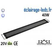 Rampe LED 60W étanche IP67 pour Aquarium Blanc et bleu 120-150cm 20V ref rpa-06