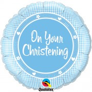 On Your Christening Boy Foil Balloon