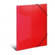 39.95 Herma Kraftfullt transparent A3 elastik mapp, röd 3 st
