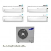Samsung Condizionatore Samsung Quadri Split Inverter 9000+9000+9000+12000 9+9+9+12 Btu Ar7000m Wi-Fi Classe A Aj080fcj4eh/eu