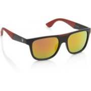 Allen Solly Rectangular Sunglasses(Orange, Yellow)