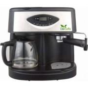 Espressor Del Caffe CoffeeShot 3 in 1 15 bari 1.25 l Functie spumare programare Negru-Inox