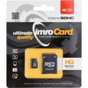 Card de memorie Imro HC UHS-I class10 Micro-SD 4 GB Negru