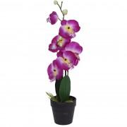 Floare artificială în ghiveci Orhidee, roz, 47 cm
