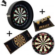 Dragon - Sorpresa PRO - Complete PRO - zwart-bullet oranje - Winmau Blade 5 - dartmat bullet - dartbord verlichting