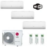 LG Condizionatore Trial Split 7+7+9 Btu Libero Smart Inverter 7000 7000 9000 motore R-32 MU3R19.UE0 2.0+2.0+2.5 kW A+++ A+ WiFi