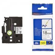 Етикетна лента Brother TZe-FX241 Tape, Black on White, Flexible, 18mm, 8m, TZEFX241