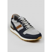 Matalan Mens Contrast Panel Trainers in Size 10, Navy