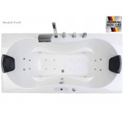 Whirlpool Luxus Badewanne Hawaii mit 6, 8, 12 / 20 Massage Düsen + LED + Arma...