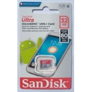 SanDisk ULTRA 32 GB MicroSDHC Class 10 80 MB/s Memory Card