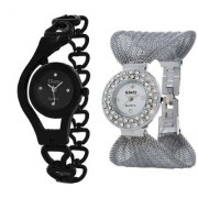 TRUE CHOICE BLACK CHAIN + SILVER ZULA SIGNATURE DESIGN COMBO WATCH