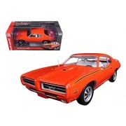 Autoworld AMM1058 1969 Pontiac GTO Judge Orange Limited Edition to 1002 Piece 1-18 Diecast Car Model