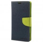 Bolsa Tipo Carteira Mercury Goospery Fancy Diary para Sony Xperia Z1 - Verde/Azul-escuro