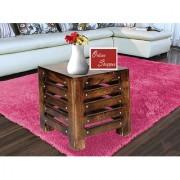 Onlineshoppee Wooden Handmade Cum End Table Zize-LxBxH-12x12x11.5 Inch