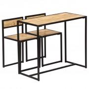 vidaXL Set mobilier bucătărie, 3 piese, lemn masiv de mango