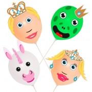 Geen Prins en Prinses ballonnen 4 stuks