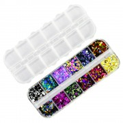 1 Set Ultradunne Pailletten Nail Art Glitter Mini Paillette Kleurrijke Ronde 3d Nail Decoraties Gemengde Size Manicure Accessoires BEP Ur Beautiful