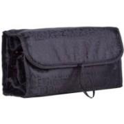 SEASPIRIT Cosmetic Bag Large Capacity Multifunctional Storage Bag Roll Up for Easy Travel Organiser Toiletries Makeup Bag Travel Toiletry Kit(Black)