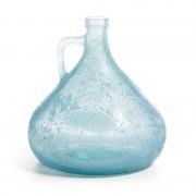 La Forma Vaas Tilbund blauw glas (18 cm hoog)