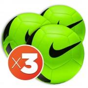 Nike Combo Palloni Calcio Pitch Team, Taglia: Unica, Unisex, Verde