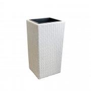 [neu.haus]®. Tegla za cvijeće / Kutija za cvijeće / Držač za cvijeće (bijela, 18x18x33cm)