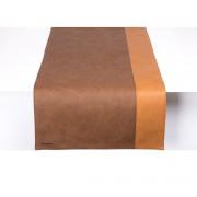 Pavelinni Chemin de Table Stripe Cuir Double Face 450x1200mm Disponible en 10 Couleurs