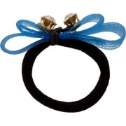 Yashasvis Artistic Alloy Black Colored Rubber Band for Girls
