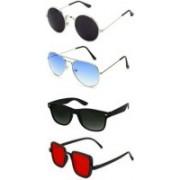 SO SHADES OF STYLE Wayfarer, Round, Aviator, Rectangular Sunglasses(Multicolor)