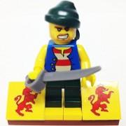 "Minifigure Packs: Lego Pirates Bundle ""(1) Pirate Roberto Cofresi"" ""(1) Figure Display Base"" ""(1) Figure Accessory"""