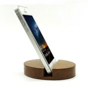JaamsoRoyals Oval Design Wooden Mobile Phone Stand / Holder For Smartphone (Wooden)