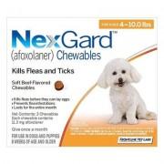 Nexgard Chewables For Small Dogs 4-10lbs (Orange) 11mg 12 Chews