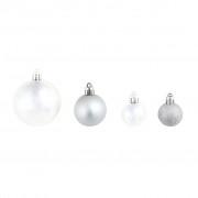vidaXL Globuri de Crăciun, 100 buc., argintiu/auriu