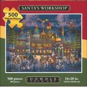 Eric Dowdle Folk Art Puzzle Santa's Workshop 500 Pieces 16 x 20 Finished by Dowdle Folk Art