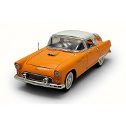 Motor Max 1956 Ford Thunderbird Hard Top, Yellow w/White Roof - 73176AC 1/18 Scale Diecast Model Toy Car