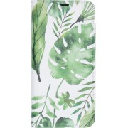 Design Softcase Booktype Samsung Galaxy A71 hoesje - Monstera Leafs