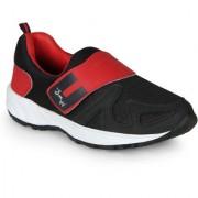 Smartwood Black Red Slip On Training Sport Shoes
