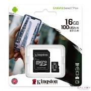 MikroSD mem.kart.16GB Kingston Select Plus klasa1