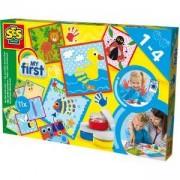 Детски комплект за рисуване с бои, SES, 080891