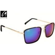 Aislin Rectangular Sunglasses(Blue, Green)