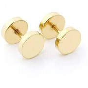Mens Punk Ear/Eyebrow Stud Damroo Stylish Gold Color Stud (Need Pearcing) For Guys/Boys/Mens/Gents